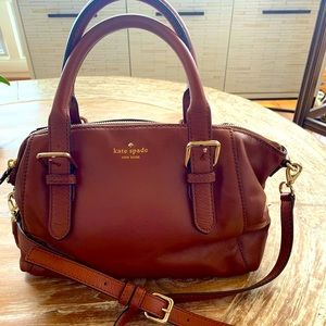 NWOT Kate Spade Rich Brown Satchel Smooth Leather